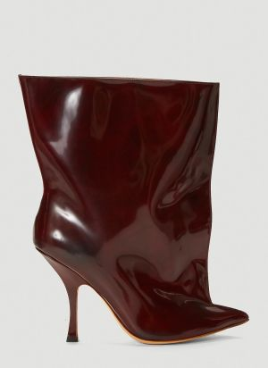 Y/Project Tubular Ankle Boots in Red
