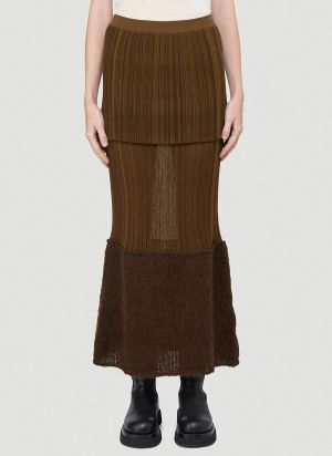 2 Moncler 1952 Tricot Skirt in Black