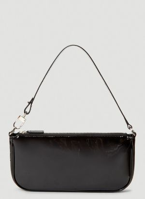 by Far Rachel Patent Leather Shoulder Bag in Black