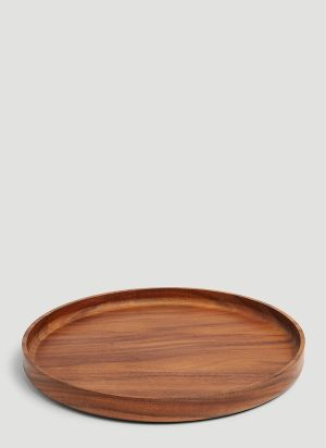 TG Round Wooden Tray in Brown