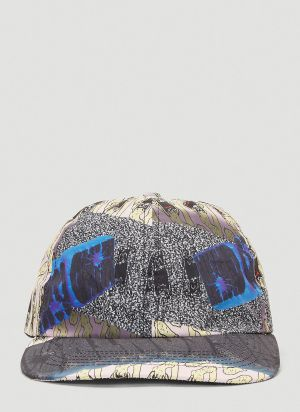 Garbage TV Graphic Print Cap in Grey