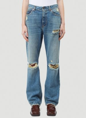 Gucci Distressed Jeans in Blue