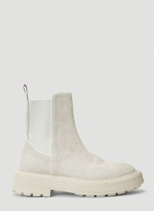 Eytys Rocco Suede Boots in White