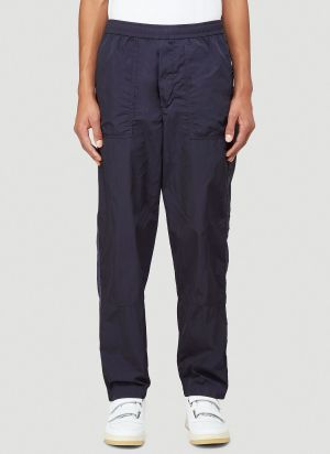 Moncler Panelled Trackpants in Blue