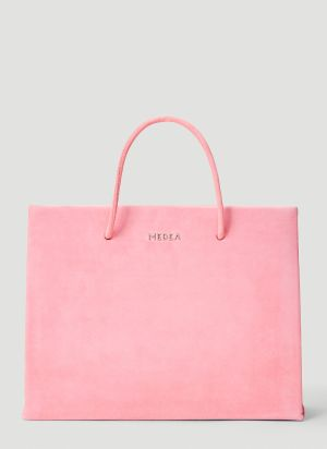 Medea Hanna Leather Tote Bag in Pink