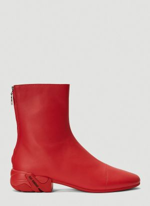Raf Simons (RUNNER) Solaris-2 High Boots in Red