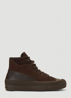 Stone Island Ghost High-Top Sneakers in Brown