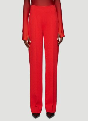 Kwaidan Editions High-Rise Jacquard Pants in Red
