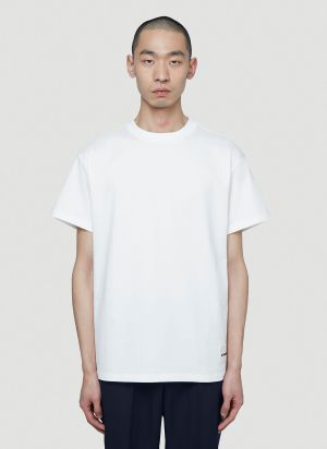 Jil Sander Pack-Of-Three T-Shirts in White