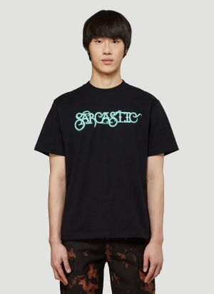 Pleasure Sarcastic T-Shirt in Black