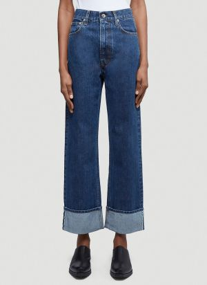 Helmut Lang High-Rise Wide-Leg Jeans in Blue