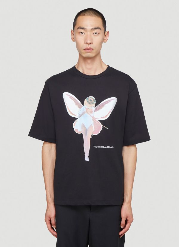 Youths In Balaclava Fairy T-Shirt in Black