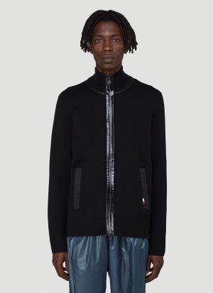 Moncler Knitted Cardigan in Black