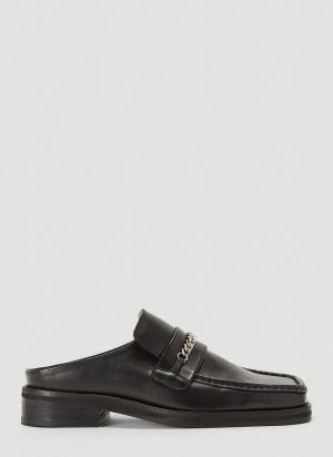 Martine Rose Chain Link Slip-On Shoes in Black