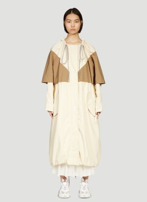 2 Moncler 1952 Contrast Panel Coat in Beige