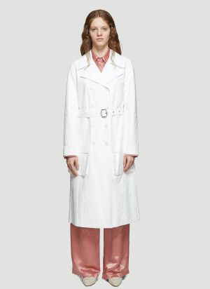 Sies Marjan Nisa Matte Coated Trench Coat in White