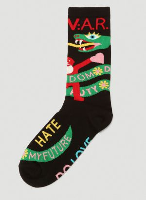Walter Van Beirendonck W:A.R. Socks in Black