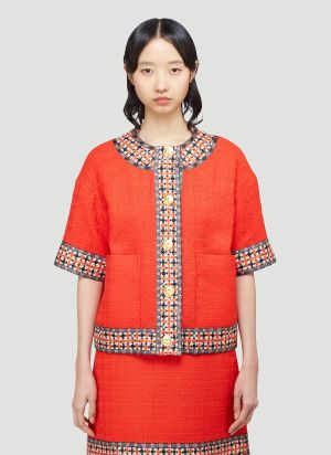 Gucci Tweed Jacket in Red