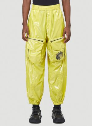 Rolf Ekroth Laminated Cargo Pants in Yellow