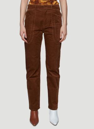 ASAI Fitted Work Pants in Brown