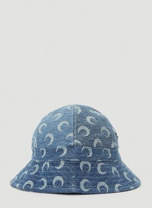 Marine Serre Crescent Moon Bucket Hat in Blue