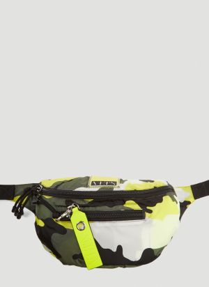 Valentino VLTN My Tag Camouflage Belt Bag in Yellow