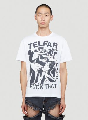 Telfar Fuck That Bitch T-Shirt in White