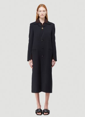 Bottega Veneta Wool Coat in Black