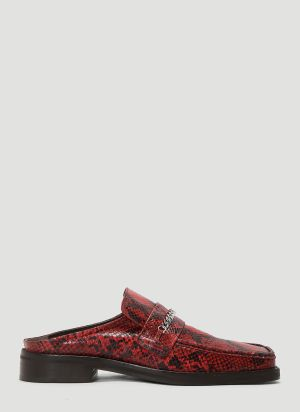 Martine Rose Loafer Embossed Mules in Red