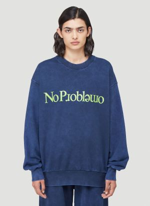 Aries No Problemo Sweatshirt in Blue