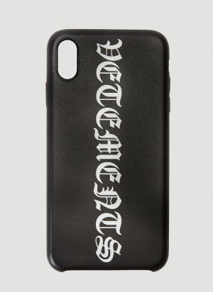 Vetements Logo iPhone XS Max Case in Black