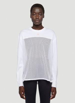 adidas by Stella McCartney Contrast Mesh Sweatshirt in White
