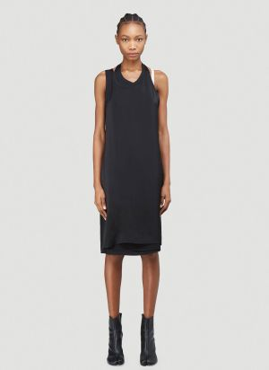 Helmut Lang Tank Satin Dress in Black