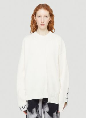 Aries Reconstructed Sweater in White