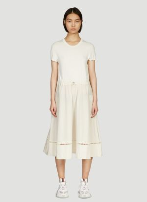Moncler Classic Crepe Dress in White
