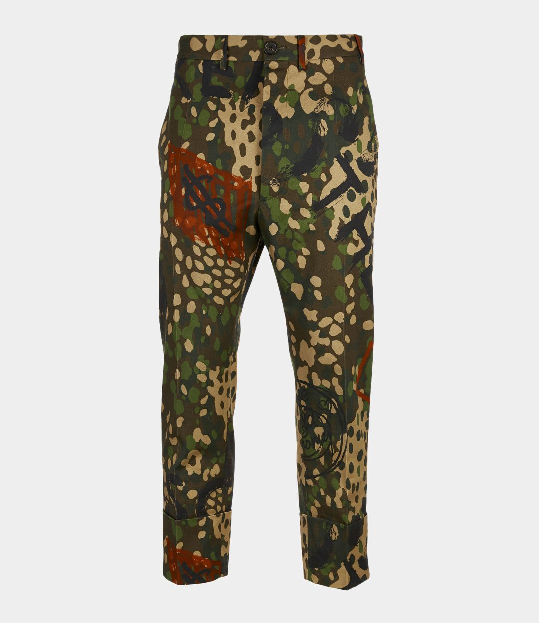 bea83b5fde906 Vivienne Westwood Cropped James Bond Trousers Camouflage Print 370
