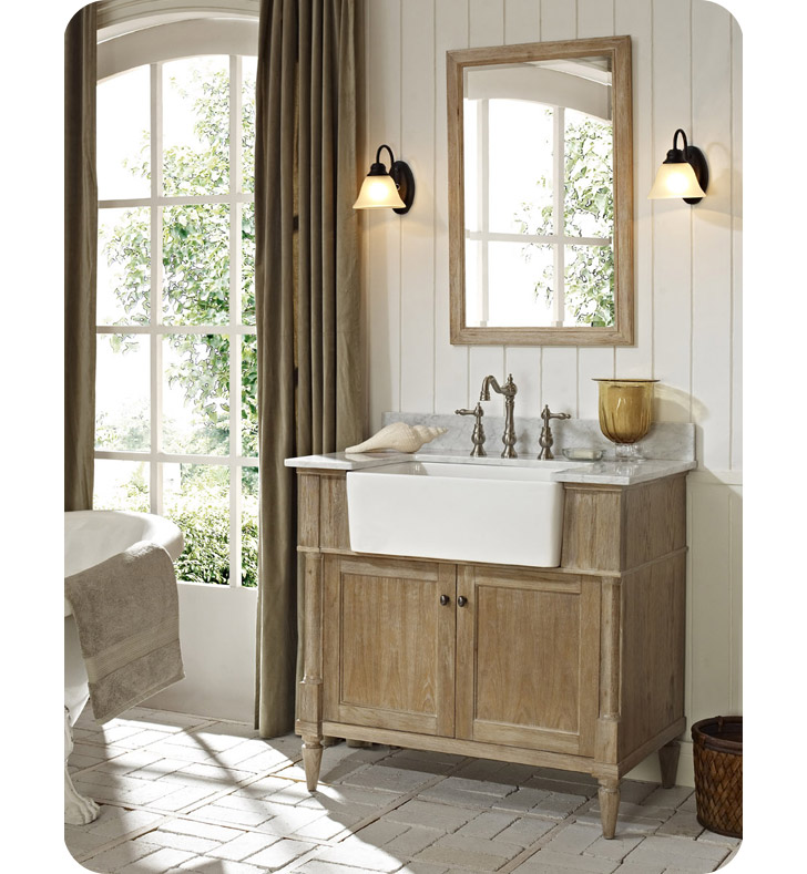 "Fairmont Designs 142-FV36 Rustic Chic 36"" Farmhouse Modern ... on Rustic Farmhouse Bathroom  id=63970"