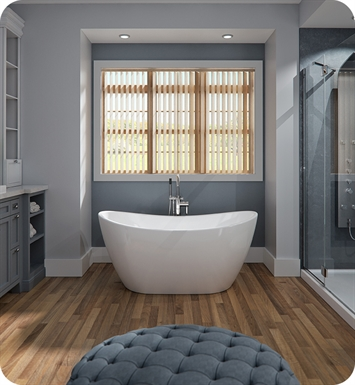 Neptune Rouge 1620412000010 FLO3260F1 Florence F1 59 38 White Free Standing Oval Bathtub