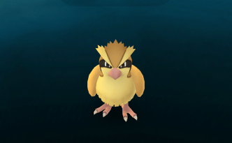 Pokemon creature about to be captured. Pidgey.