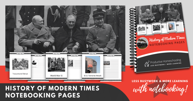 History of Modern Times Notebooking Pages