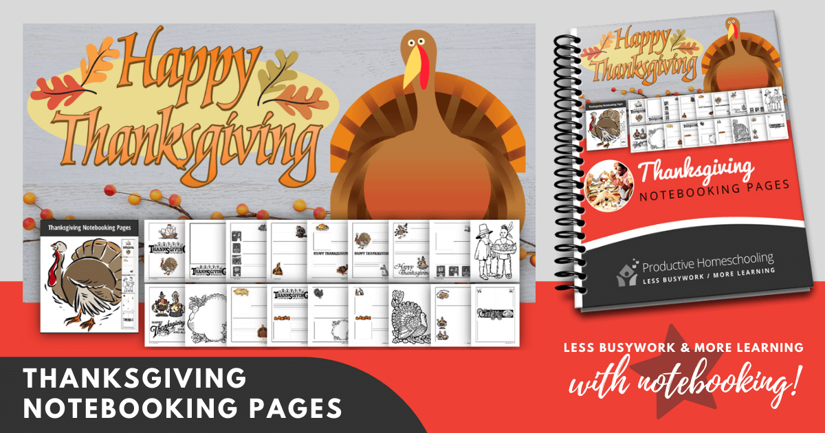 Thanksgiving Day Notebooking Pages (FREE)