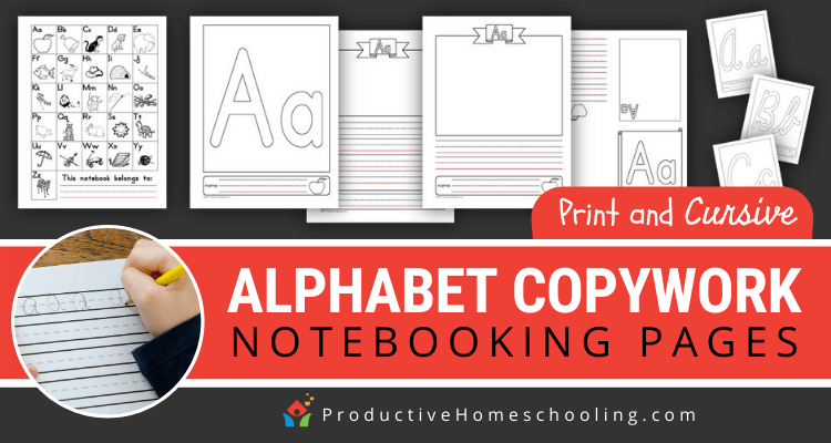 Alphabet Copywork Notebooking Pages Print And Cursive