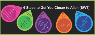 6 Steps to Get You Closer to Allah (SWT) – Infographic