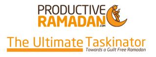 The ProductiveRamadan Ultimate Taskinator
