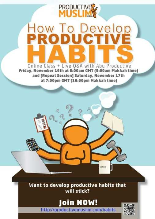 How to Develop Productive Habits - Join Online Class with Abu Productive