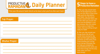 How to Plan a Schedule for the Month of Ramadan - Productive Muslim