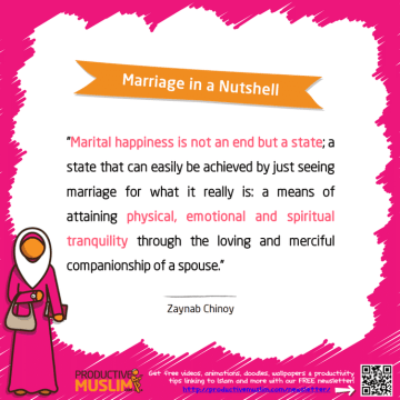 Marriage in a Nutshell | Inspirational Islamic Quotes on Productivity | Productive Muslim