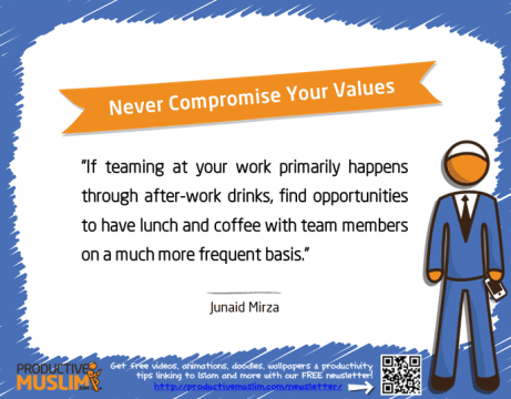 Never Compromise Your Values | Inspirational Islamic Quotes on Productivity | Productive Muslim