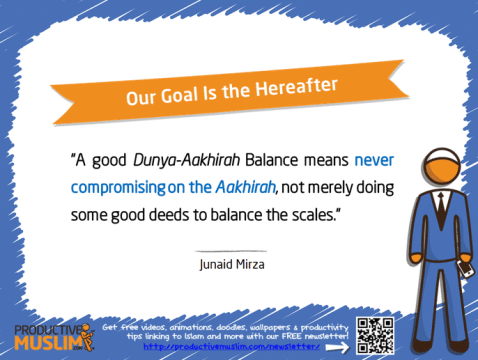 Our Goal Is the Hereafter | Inspirational Islamic Quotes on Productivity | Productive Muslim