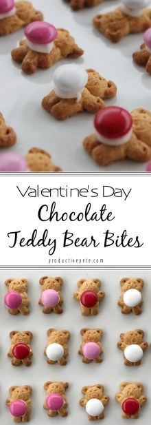 Somethings are just meant to go perfectly together - like these Chocolate Teddy Bear Bites that combine crunchy graham cracker goodness with sweet chocolate! Needing only 3 ingredients, these are a great Valentine's Day snack or even dessert for kids. They would also be great for Valentine's Day treats for school parties! My favorite part – these are treats your kids can make easily with you! #valentinesday